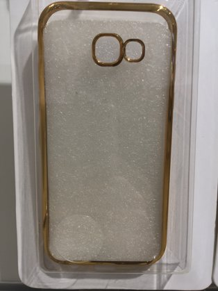 Galaxy A5 (2017) Hülle Transparent und gold